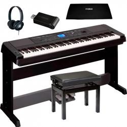 YAMAHA -PACK- DGX660 B PIANO + PEDALERA + BANQUETA + CUBRETECLADO + AURICULARES Y ADAPTADOR USB