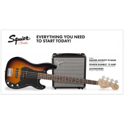 SQUIER PACK PJBASS BSB BAJO ELECTRICO CON AMPLIFICADOR BROWN SUNBURST