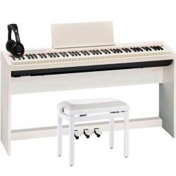 ROLAND -PACK- FP30WH PIANO DIGITAL + SOPORTE + PEDALERA + BANQUETA Y AURICULARES