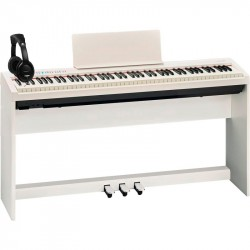 ROLAND -PACK- FP30WH PIANO DIGITAL + SOPORTE + PEDALERA Y AURICULARES