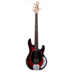 STERLING RAY4-RRBS RAY4 BAJO ELECTRICO RED RUBY BURST SATIN