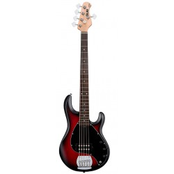 STERLING RAY5-RRBS RAY5 BAJO ELECTRICO 5 CUERDAS RED RUBY BURST SATIN