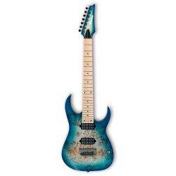 IBANEZ RG752MPBFX GFB PRESTIGE GUITARRA ELECTRICA 7 CUERDAS GHOST FLEET BLUE BURST. NOVEDAD