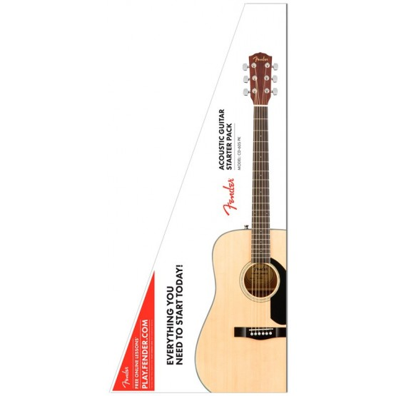 FENDER CD60S PACK GUITARRA ACUSTICA DREADNOUGHT NATURAL. NOVEDAD