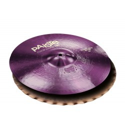 PAISTE 900 COLOR SOUND PURPLE SOUND EDGE HI-HAT 14 PLATOS BATERIA