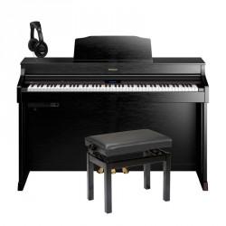 ROLAND -PACK- HP603A CB PIANO DIGITAL 88 TECLAS CONTRAPESADAS + BANQUETA Y AURICULARES