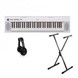 YAMAHA -PACK- NP12WH PIANO DIGITAL PIAGGERO BLANCO + SOPORTE TIJERA Y AURICULARES