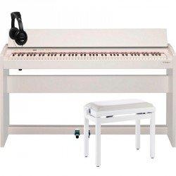 ROLAND -PACK- F140R WH PIANO DIGITAL BLANCO + BANQUETA Y AURICULARES