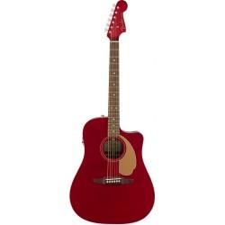 FENDER REDONDO PLAYER GUITARRA ELECTROACUSTICA CANDY APPLE RED. NOVEDAD