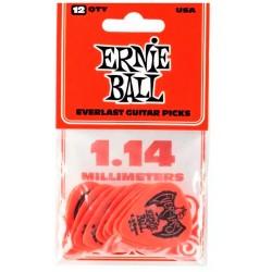 ERNIE BALL 9194 EVERLAST BOLSA DE 12 PUAS 1.14MM ROJAS