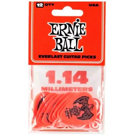 ERNIE BALL EB9194 EVERLAST BOLSA DE 12 PUAS 1.14 MM ROJA