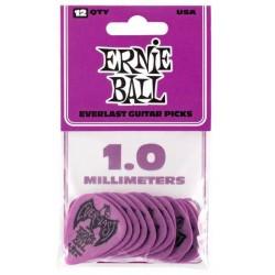 ERNIE BALL 9193 EVERLAST BOLSA DE 12 PUAS 1MM PURPURA