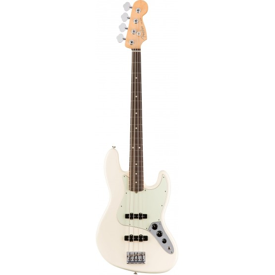 FENDER AMERICAN PRO JAZZ BASS RW BAJO ELECTRICO OLYMPIC WHITE