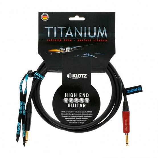 KLOTZ TI0450PSP HIGH END TITANIUM CABLE INSTRUMENTO 4.5 METROS