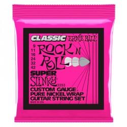 ERNIE BALL 2253 SUPER SLINKY CLASSIC ROCK AND ROLL JUEGO CUERDAS GUITARRA ELECTRICA 009-042