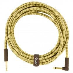 FENDER 0990820086 DELUXE CABLE INSTRUMENTO RECTO ANGULADO 4.5 METROS TWEED