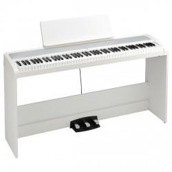 KORG B2SP WH PIANO DIGITAL BLANCO CON SOPORTE Y PEDALERA