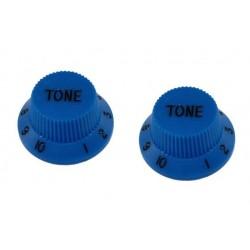 ALL PARTS PK0153027 TONE KNOBS (2) BLUE FOR STRAT FITS SPLIT SHAFT POTS