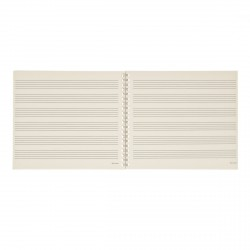 DADDARIO B6S64 CUADERNO MUSICA ESPIRAL 6 PENTAGRAMAS 64 PAGINAS