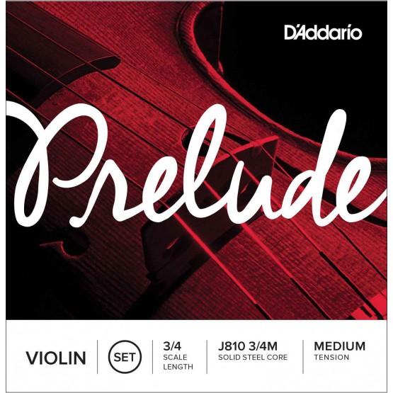 D'ADDARIO J810 PRELUDE JUEGO CUERDAS VIOLIN 3/4