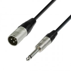 ADAM HALL K4MMP0500 CABLE MICROFONO XLR MACHO A JACK MONO 5M