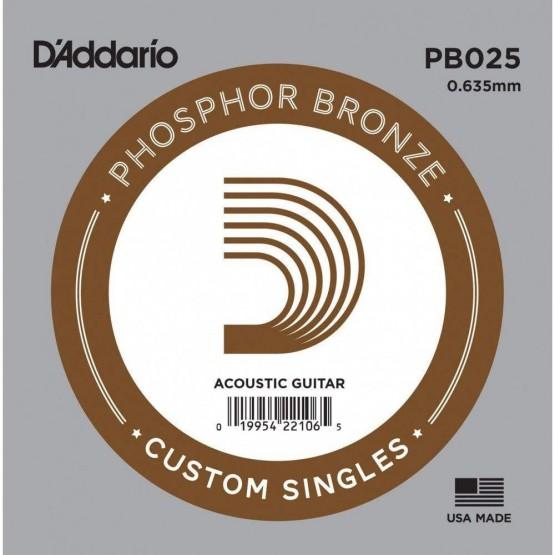 DADDARIO PB025 CUERDA GUITARRA ACUSTICA BRONZE