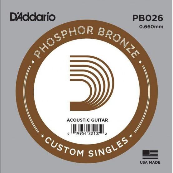 DADDARIO PB026 CUERDA GUITARRA ACUSTICA BRONZE