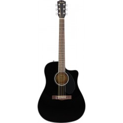 FENDER CD60SCE BLK WN GUITARRA ELECTROACUSTICA DREADNOUGHT NEGRA