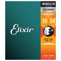 ELIXIR 11500 NANOWEB LIGHT JUEGO CUERDAS MANDOLINA 010 034