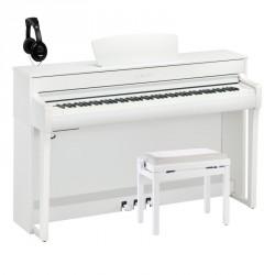 YAMAHA -PACK- CLP735WH PIANO DIGITAL BLANCO MATE + BANQUETA Y AURICULARES