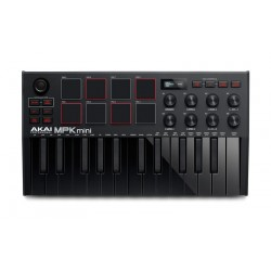 AKAI MPK MINI MK3 BLACK TECLADO CONTROLADOR USB NEGRO