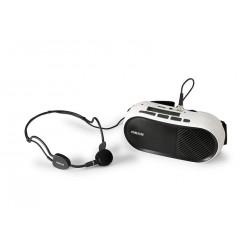 FONESTAR FAP-12GU SISTEMA AMPLIFICACION PORTATIL CON MICROFONO DE DIADEMA Y REPRODUCTOR MP3