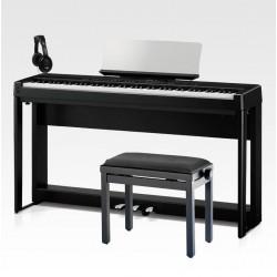 KAWAI -PACK- ES520 BLK PIANO DIGITAL NEGRO + SOPORTE + PEDALERA + BANQUETA Y AURICULARES