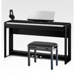 KAWAI -PACK- ES920 BLK PIANO DIGITAL NEGRO + SOPORTE + PEDALERA + BANQUETA Y AURICULARES