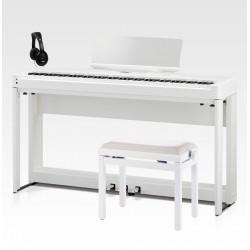 KAWAI -PACK- ES920 WH PIANO DIGITAL BLANCO + SOPORTE + PEDALERA + BANQUETA Y AURICULARES