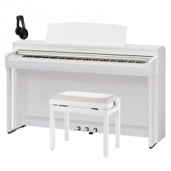 KAWAI -PACK- CN39 WH PIANO DIGITAL BLANCO + BANQUETA Y AURICULARES