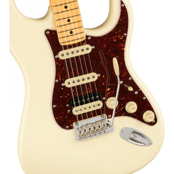 FENDER AMERICAN PROFESSIONAL II STRATOCASTER HSS MN GUITARRA ELECTRICA OLYMPIC WHITE