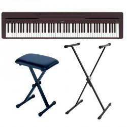 YAMAHA -PACK- P45B PIANO DIGITAL + SOPORTE TIJERA Y BANQUETA