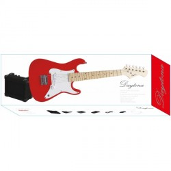 DAYTONA PGEJDRD PACK GUITARRA ELECTRICA JUNIOR ROJA