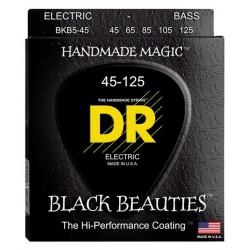 DR STRING BKB5-45 BLACK BEAUTIES JUEGO 5 CUERDAS BAJO 045-125