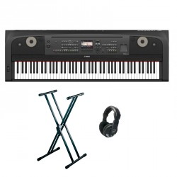 YAMAHA -PACK- DGX670B PIANO DIGITAL + SOPORTE TIJERA Y AURICULARES