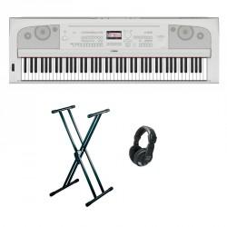 YAMAHA -PACK- DGX670WH PIANO DIGITAL BLANCO + SOPORTE TIJERA Y AURICULARES