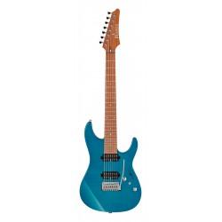 IBANEZ MM7 TAB MARTIN MILLER GUITARRA ELECTRICA 7 CUERDAS TRANSPARENT AQUA BLUE