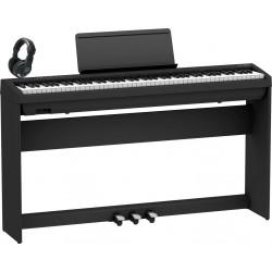 ROLAND -PACK- FP30X BK PIANO DIGITAL + SOPORTE + PEDALERA Y AURICULARES