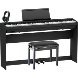 ROLAND -PACK- FP30X BK PIANO DIGITAL + SOPORTE + PEDALERA + BANQUETA Y AURICULARES