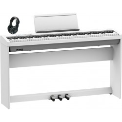 ROLAND -PACK- FP30X WH PIANO DIGITAL + SOPORTE + PEDALERA Y AURICULARES