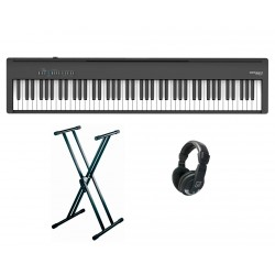 ROLAND -PACK- FP30X BK PIANO DIGITAL NEGRO + SOPORTE TIJERA Y AURICULARES