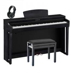 YAMAHA -PACK- CLP725B PIANO DIGITAL NEGRO + BANQUETA Y AURICULARES