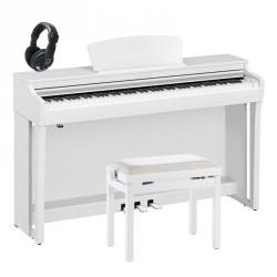YAMAHA -PACK- CLP725WH PIANO DIGITAL BLANCO + BANQUETA Y AURICULARES