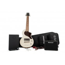 BLACKSTAR CARRY ON WHT DELUXE PACK GUITARRA ELECTRICA MINI VINTAGE WHITE